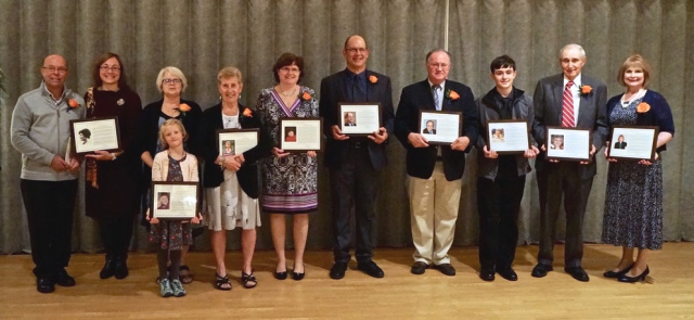 2017 Wall of Distinction inductees and representatives